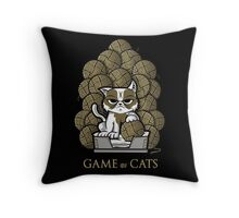GAME OF CATS Throw Pillow