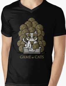 GAME OF CATS Mens V-Neck T-Shirt