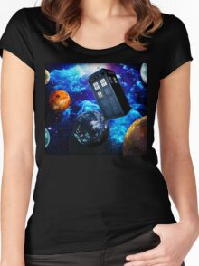Doctor Who Space Women's Fitted Scoop T-Shirt