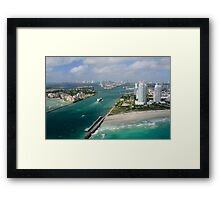 Approaching Miami Framed Print