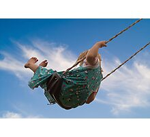 Little Girl on Swing Photographic Print