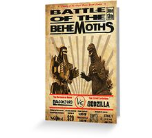 Battle of the Behemoths Greeting Card