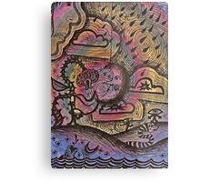 Psychedelic doodles  Metal Print
