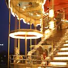 Merry-go-round at the Eiffel tower by Yves Roumazeilles