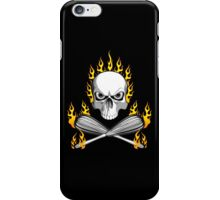 Flaming Skull and Whisks iPhone Case/Skin