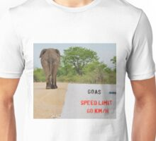 Elephant - Tourists go Slow Unisex T-Shirt