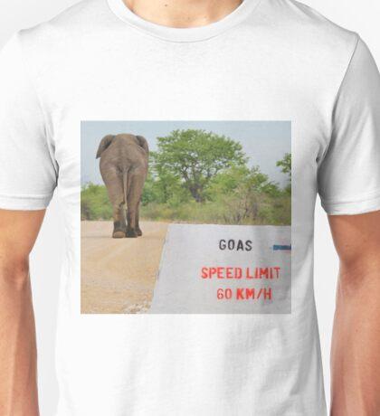 Elephant - Tourists go Slow Unisex T-Shirt
