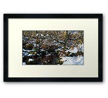 Burbage Brook in Winter Framed Print