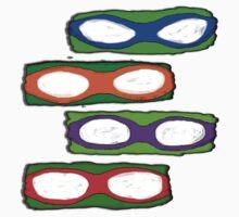 TMNT Paint Masks Kids Tee