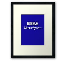 Sega Master System - White Text Framed Print
