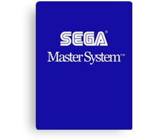 Sega Master System - White Text Canvas Print