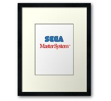 Sega Master System - colour Framed Print