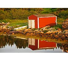 The Little Red Shed Photographic Print