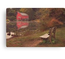 A Bench With A View (Autumn) Canvas Print