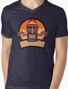 Tiki Vector Mens V-Neck T-Shirt