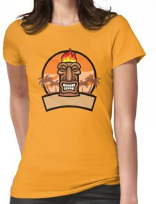 Tiki Vector Womens Fitted T-Shirt