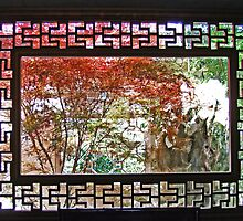 Chinese Garden Window Scene by Patricia Shriver
