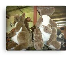 Kangaroos & Joeys Creswick Knitting Mills - Vic. Metal Print