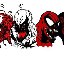 Symbiote Rushmore by budwick5750