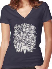 64Bit Women's Fitted V-Neck T-Shirt