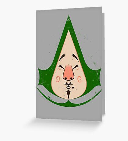 Tingly Assassin Greeting Card