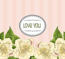 Cream Magnolia Florals by Tee Brain Creative