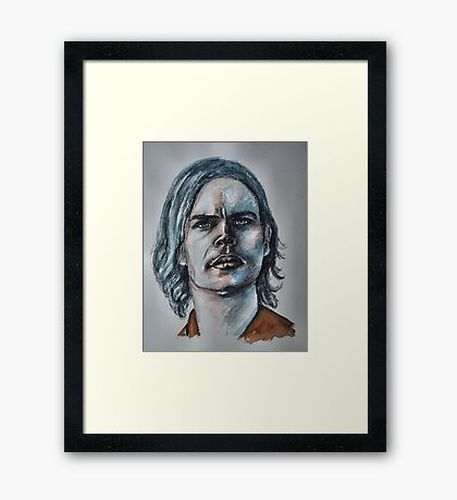 Matthew Gray Gubler-Featured in Painters Universe  Group  Framed Print