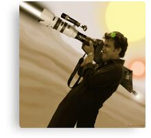 Fiaz Tariq & His Nikon D20000 Bazooka Camera Canvas Print