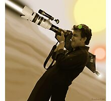 Fiaz Tariq & His Nikon D20000 Bazooka Camera Photographic Print