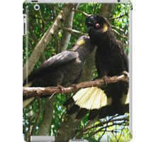 Yellow-Tailed Black Cockatoo - Male Adult & Young iPad Case/Skin