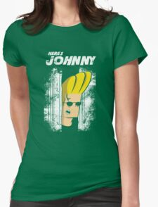 Here's johnny Womens Fitted T-Shirt