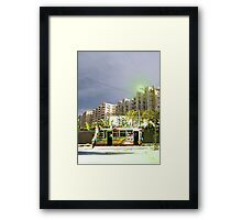Rawalpindi Hoverbus #302 Ready for boarding to the moons of New Mardan Framed Print
