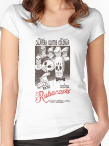 Rubacava (White) Women's Fitted Scoop T-Shirt