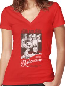 Rubacava Women's Fitted V-Neck T-Shirt