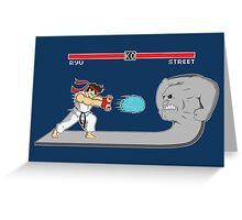 Fighter Of Streets Greeting Card