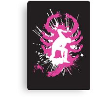My hands are dirty Pink and White Canvas Print