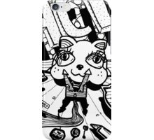 The Psychedelic Journey to the Funky Cat Castle iPhone Case/Skin