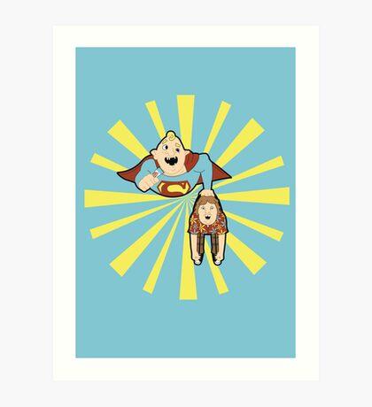 Super Sloth Art Print