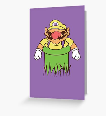 You're going to need a bigger warp pipe Greeting Card