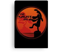 The Karate Dog  Canvas Print