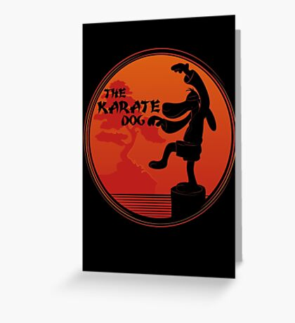 The Karate Dog  Greeting Card