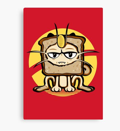 Meowth Breading Canvas Print