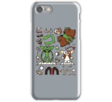 Dress up Gizmo and Gremlin iPhone Case/Skin