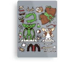 Dress up Gizmo and Gremlin Metal Print