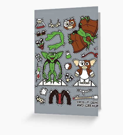 Dress up Gizmo and Gremlin Greeting Card