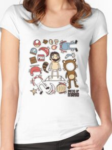 Dress up Mario Women's Fitted Scoop T-Shirt