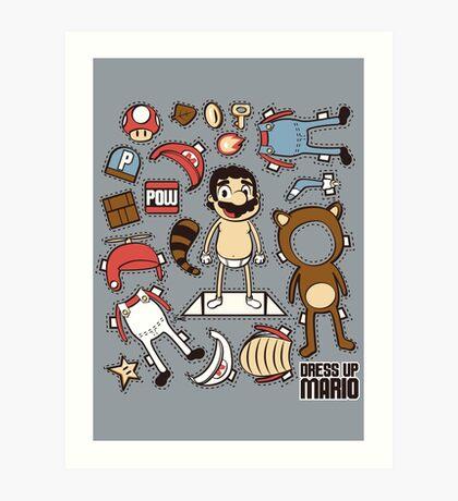 Dress up Mario Art Print