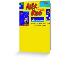 Alex Kidd Greeting Card