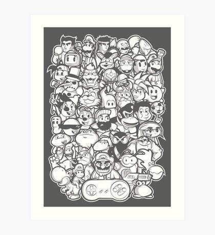 Super 16 bit Art Print