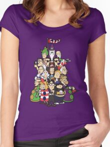 Day at the Mansion in colour! Women's Fitted Scoop T-Shirt